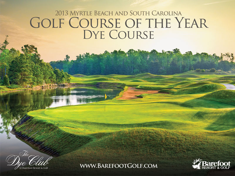 dye course barefoot resort golf